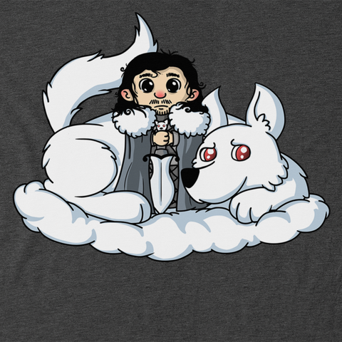 Cute Jon Snow and  Ghost T-Shirt