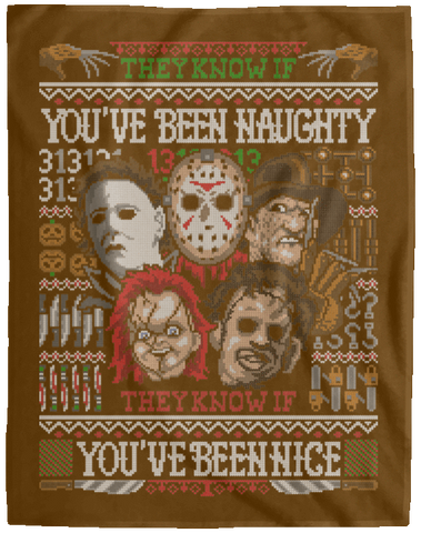 Blankets Brown / One Size An Ugly Slasher Sweater 60x80 MicroFleece Blanket