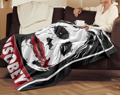 Chaos and Disobey 50x60 MicroFleece Blanket