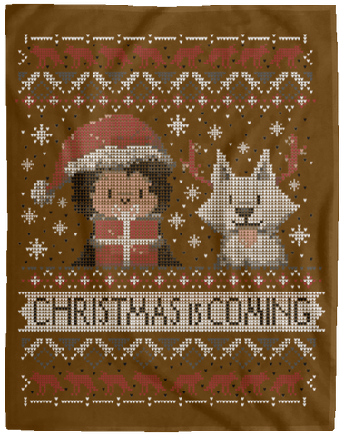 Christmas is Coming 60x80 MicroFleece Blanket