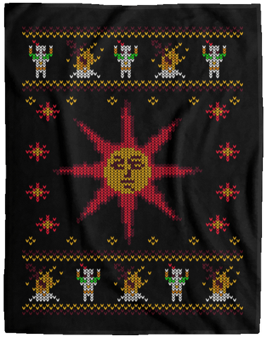 Christmas Sweater Dark Souls 60x80 MicroFleece Blanket
