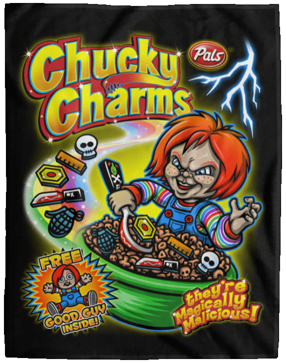 Blankets Black / One Size Chucky Charms 60x80 MicroFleece Blanket