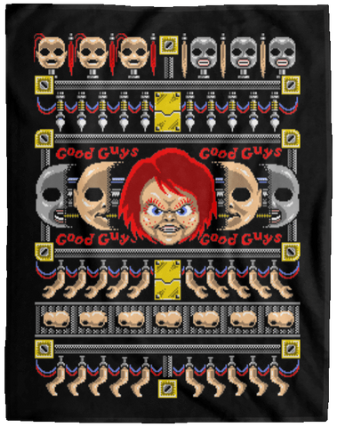 Chucky ugly sweater 60x80 MicroFleece Blanket
