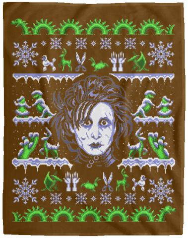 Edward Scissorhands ugly sweater 60x80 MicroFleece Blanket