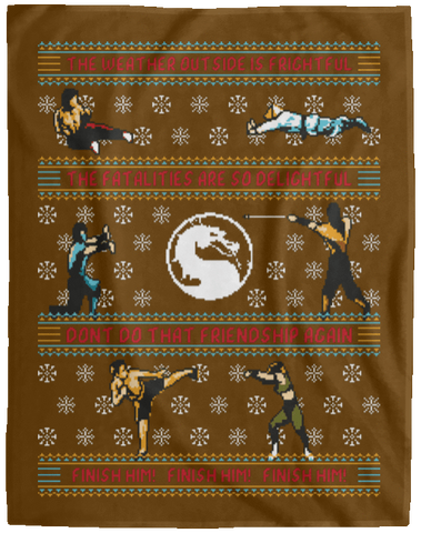 Finish Him Finish Him Finish Him 60x80 MicroFleece Blanket