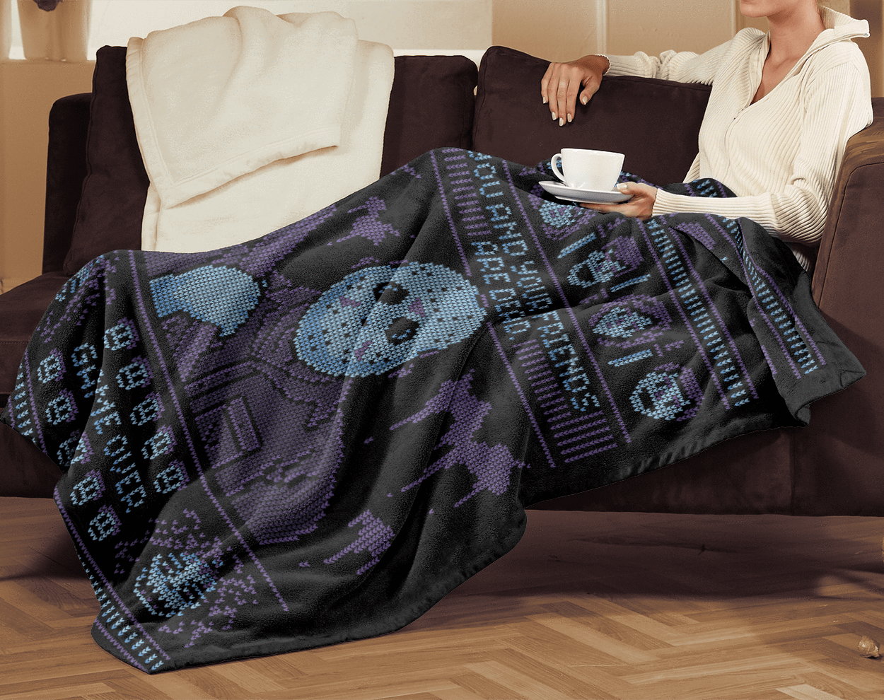 Blankets Game Over Ugly Sweater 60x80 MicroFleece Blanket
