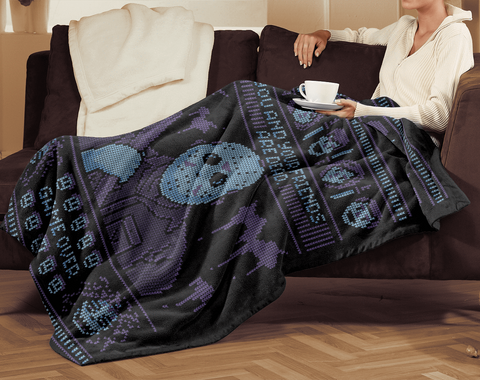 Blankets Game Over Ugly Sweater 60x80 Sherpa Blanket