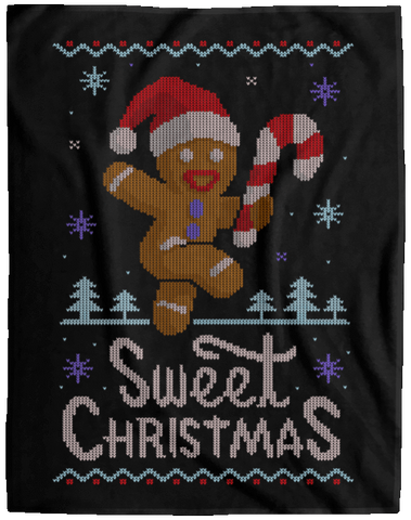 Ginger Bread Sweater 60x80 MicroFleece Blanket