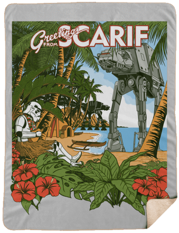 Greetings from Scarif 60x80 Sherpa Blanket