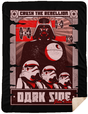 Blankets Black / One Size Join the Dark SIde 60x80 Sherpa Blanket