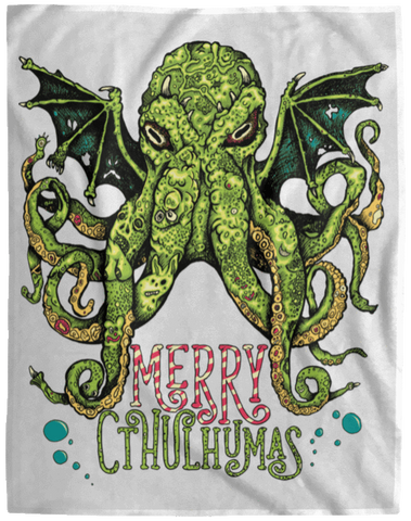 Blankets White / One Size Merry Cthulhumas 60x80 MicroFleece Blanket
