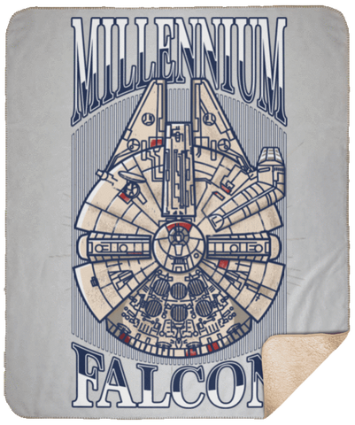 Blankets White / One Size Millennium Falcon 50x60 Sherpa Blanket