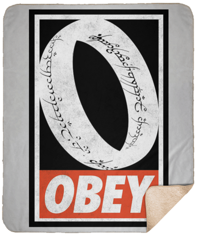 Blankets White / One Size Obey One Ring 50x60 Sherpa Blanket