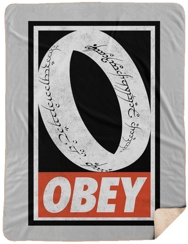Blankets White / One Size Obey One Ring 60x80 Sherpa Blanket