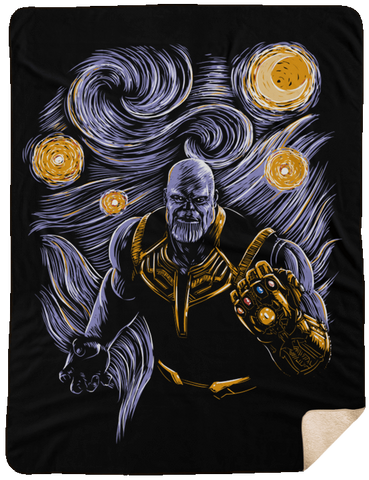 Starry Thanos 60x80 Sherpa Blanket