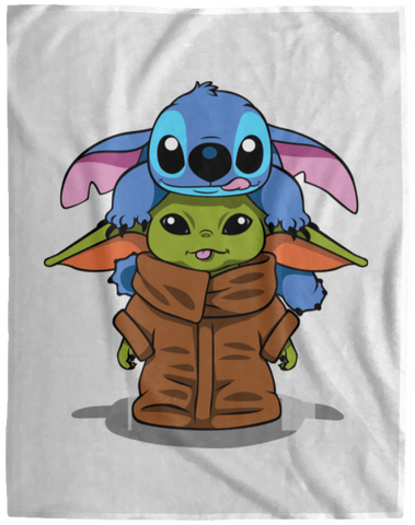 Blankets White / One Size Stitch Yoda 60x80 MicroFleece Blanket