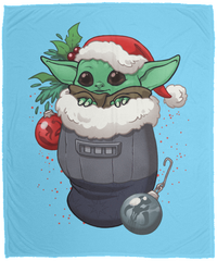 Blankets Columbia Blue / One Size Stocking Stuffer Yoda 50x60 MicroFleece Blanket