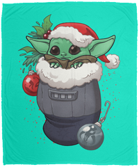 Blankets Teal / One Size Stocking Stuffer Yoda 50x60 MicroFleece Blanket