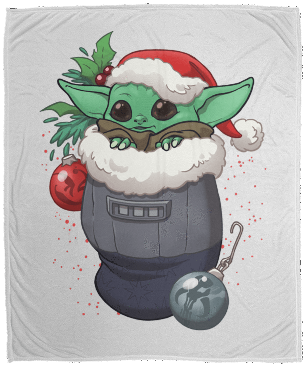Stocking Stuffer Yoda 50x60 MicroFleece Blanket