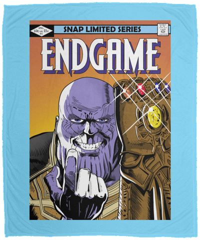 Blankets Columbia Blue / One Size Thanos Endgame 50x60 MicroFleece Blanket