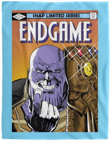 Blankets Columbia Blue / One Size Thanos Endgame 60x80 MicroFleece Blanket
