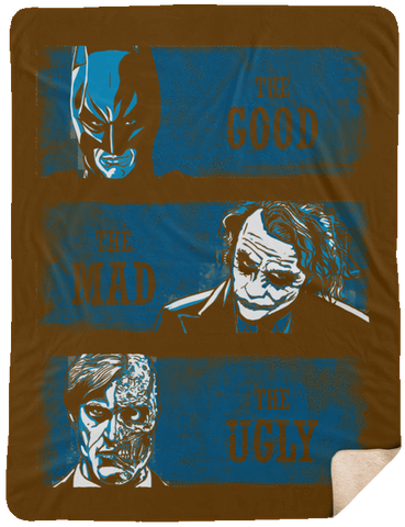 The Good the Mad and the Ugly 60x80 Sherpa Blanket
