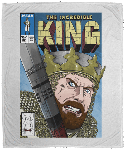 Blankets White / One Size The Incredible King 50x60 MicroFleece Blanket