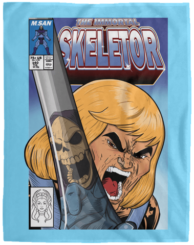 Blankets Columbia Blue / One Size The Incredible Skeletor 60x80 MicroFleece Blanket