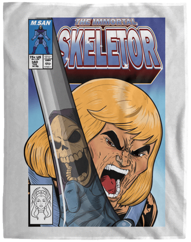 Blankets White / One Size The Incredible Skeletor 60x80 MicroFleece Blanket
