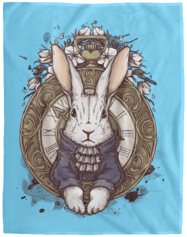Blankets Columbia Blue / One Size The White Rabbit 60x80 MicroFleece Blanket