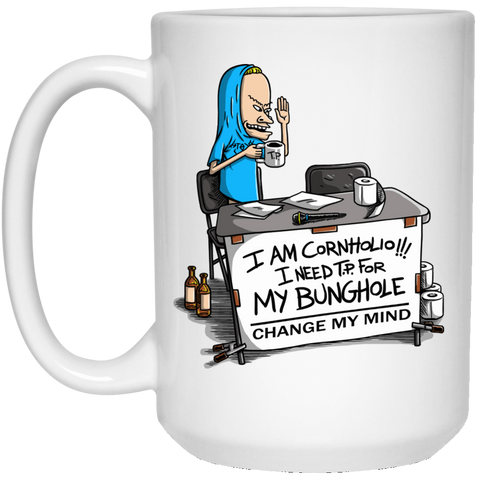 Drinkware White / One Size Beavis Change My Mind 15oz Mug