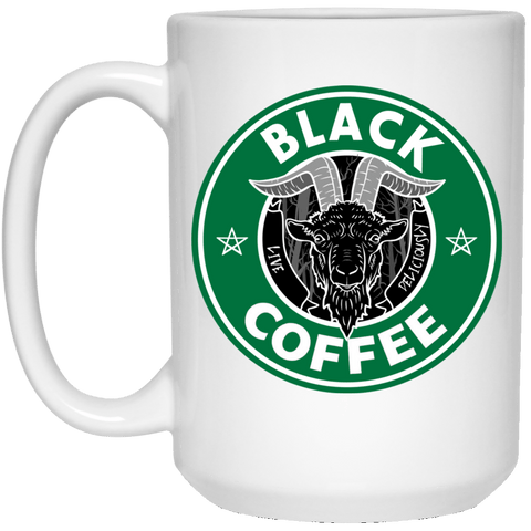 Drinkware White / One Size Black Coffee 15oz Mug