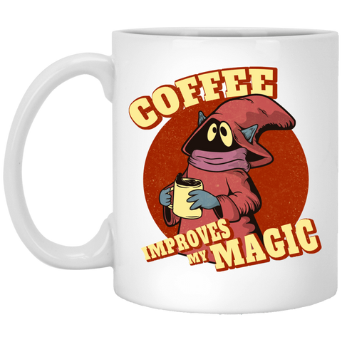 Drinkware White / One Size Coffee Improves My Magic 11oz Mug