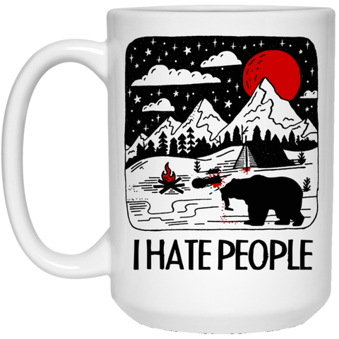 Drinkware White / One Size I Hate People 15oz Mug
