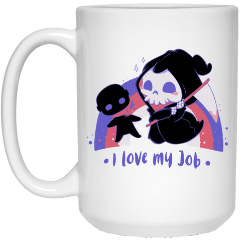 Drinkware White / One Size I Love My Job 15oz Mug