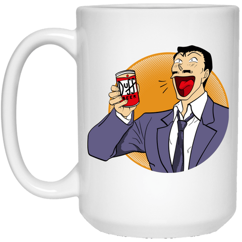 Drinkware White / One Size Kogoro Goes To Springfield 15oz Mug