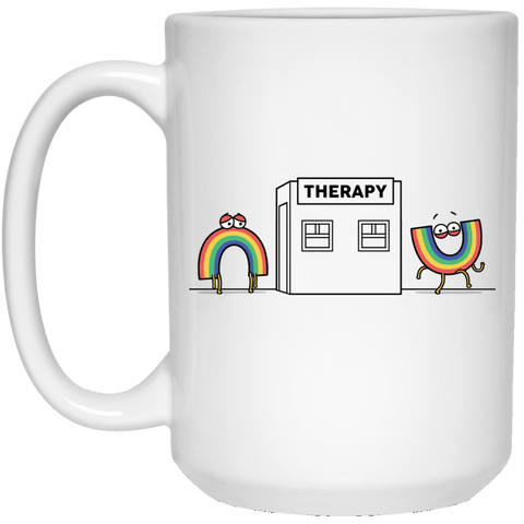 Drinkware White / One Size Rainbow Therapy 15oz Mug