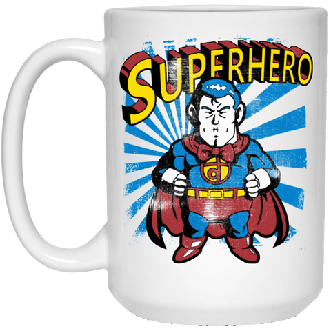 Drinkware White / One Size Superhero 15oz Mug