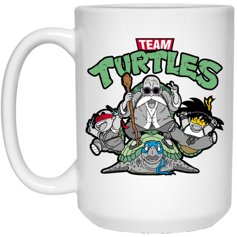 Drinkware White / One Size Team Turtles 15oz Mug
