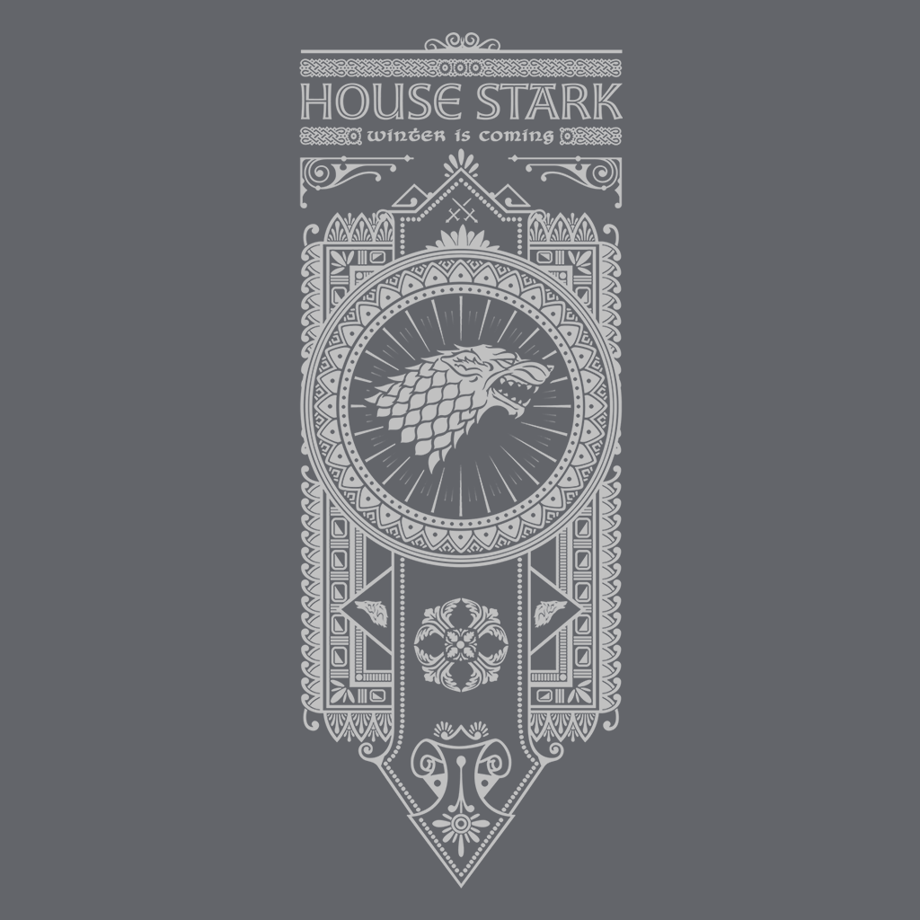 House Stark - White Ink