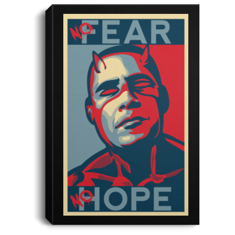 A man with no fear Premium Portrait Canvas
