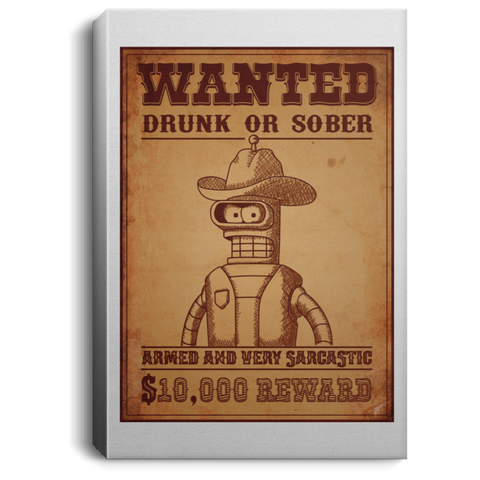 Bender Wanted Premium Portrait Canvas