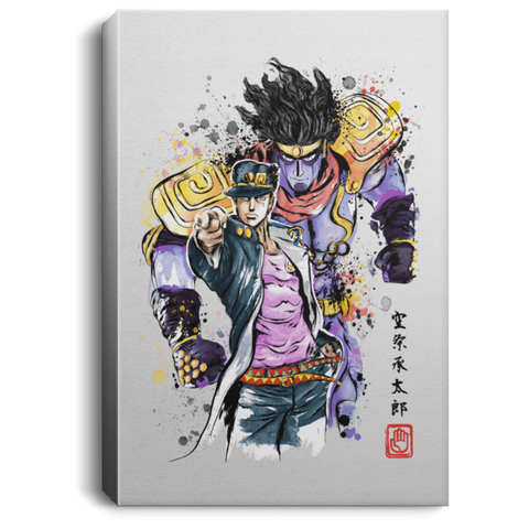 Bizarre Adventure Watercolor Premium Portrait Canvas