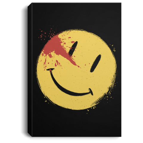 "Housewares Black / 8"" x 12"" Bloody Smile Premium Portrait Canvas"