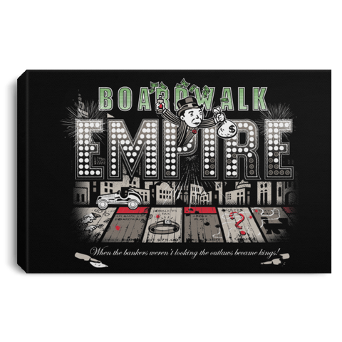 "Housewares Black / 12"" x 8"" Boardwalk Empire Premium Landscape Canvas"