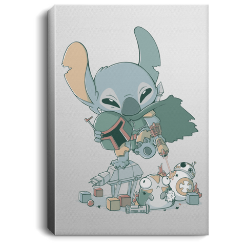 Boba Stitch Premium Portrait Canvas