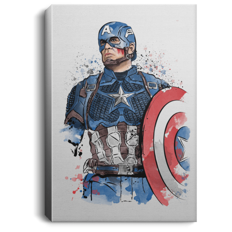 Captain Watercolor Premium Portrait Canvas