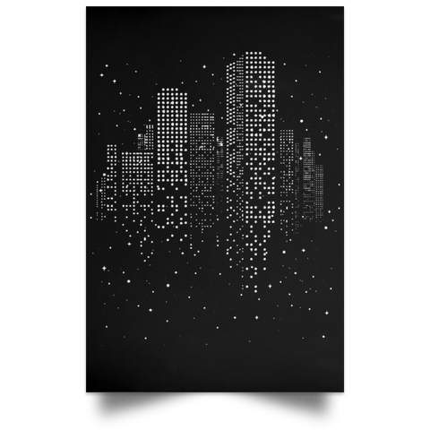 "Housewares Black / 12"" x 18"" City Of Stars Portrait Poster"
