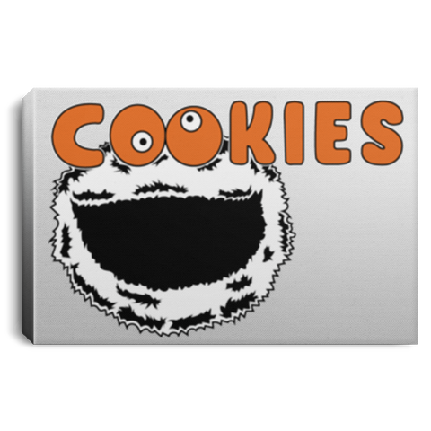 "Housewares White / 12"" x 8"" Cookies! Premium Landscape Canvas"