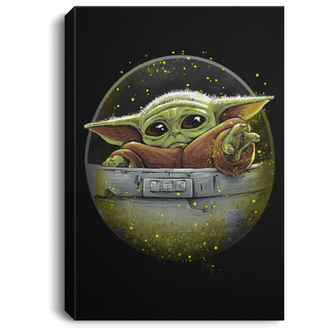 "Housewares Black / 8"" x 12"" Cute Force Premium Portrait Canvas"